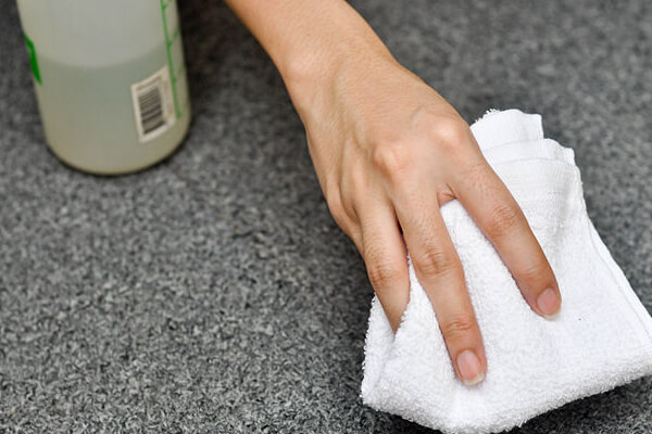 White Vinegar To Remove Rust And Other Stains From Concrete