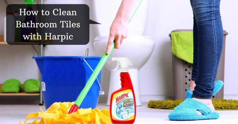 How to Clean Bathroom Tiles with Harpic
